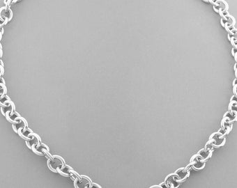 Stylish and Versatile Tiffany & Co. Padlock Necklace on a Chunky Chain - Like New!