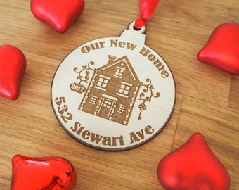 New Home Ornament - Our New Home - Housewarming Gift - New Home Gift - New Home Housewarming Gift - New Home Owners - Home Gifts - Ornament