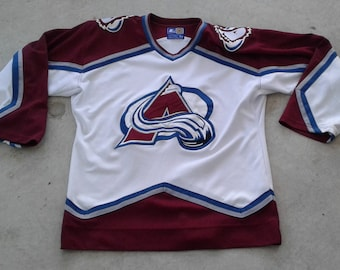 Vintage Starter 90's Colorado Avalanche Hockey Jersey White Medium