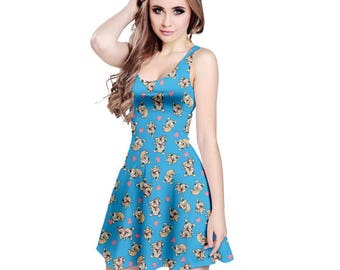 Laser Puppies Dress - Star vs. The Forces of Evil Dress Skater Dress Cartoon Dress Magical Dress Plus Size Dress Cosplay Dress Puppies Dress