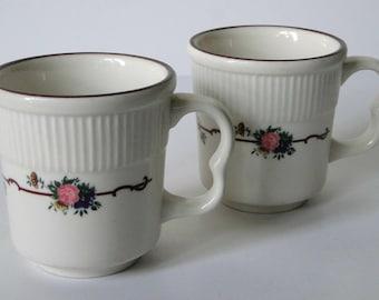 Set of Two, Syracuse, Coffee Mugs, Vintage, Mugs, Drinkware