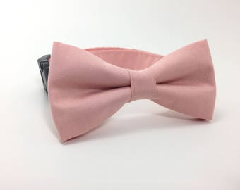 Blush Dog Bow Tie, Wedding Dog Bow Tie and Collar, Wedding Dog Bow Tie, Dog Collar, Blush Dog Collar, #dog
