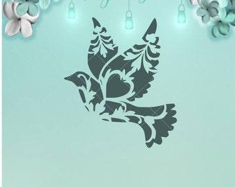 Bird Mandala / Bird Mandala Svg / Svg / Mandala Svg / Mason Jar / Night Light / Bird Dxf / Mandala Dxf / Bird Png / Mandala Png