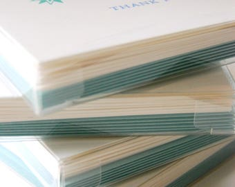 Thank You // Pack of 6 // letterpress printed greeting cards with envelopes