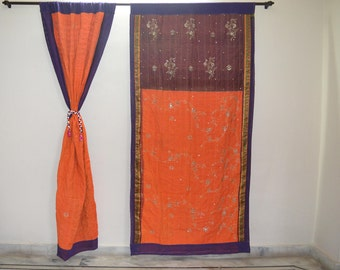 GIFT Indian quilt Hippy curtain Cotton Indian curtain Boho curtain gypsy curtain partition room divider recycled vintage BohemiancurtainQC34