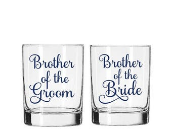 Brother of the Bride Decal, Brother of the Groom Decal, Wedding Reception DIY, Groomsman Gift, Best Man Gift, Gift for Brother, Wedding Gift
