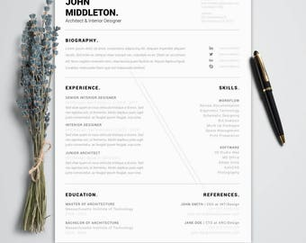 General Manager Resume Sample Excel Minimalist Resume  Etsy Good Objectives For Resumes Excel with Babysitter Resume Word Minimalist Resume Template For Word  Professional Men Resume  Cover Letter  Curriculum Vitae  Salesperson Resume