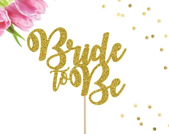 Bridal Shower Cake Topper, Bride to Be Cake Topper, Engagement Party Decorations, Bridal Shower Decorations, Miss to Mrs, She Said Yes
