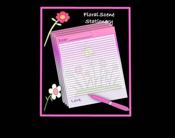 Floral Theme Stationery