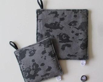 Grey & black Leopard holders/grey leopard pot Holder