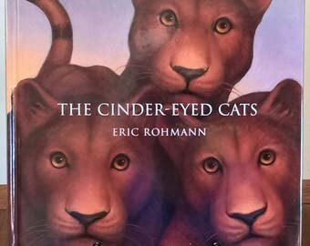 The Cinder-Eyed Cats - Eric Rohmann - First Edition Children's Books, Kids Books, Fantasy, Magic, Sail Boat, Animals, Tigers