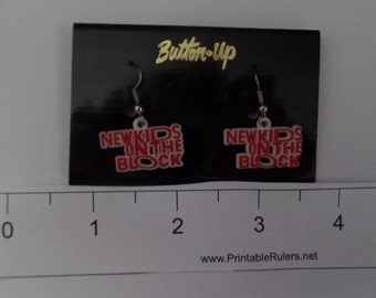 New Kids on the Block Original Vintage Pierced Earrings. Limited Quantity. Two Pair Available.