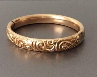 Victorian Gold Filled Bracelet / Antique / Steampunk