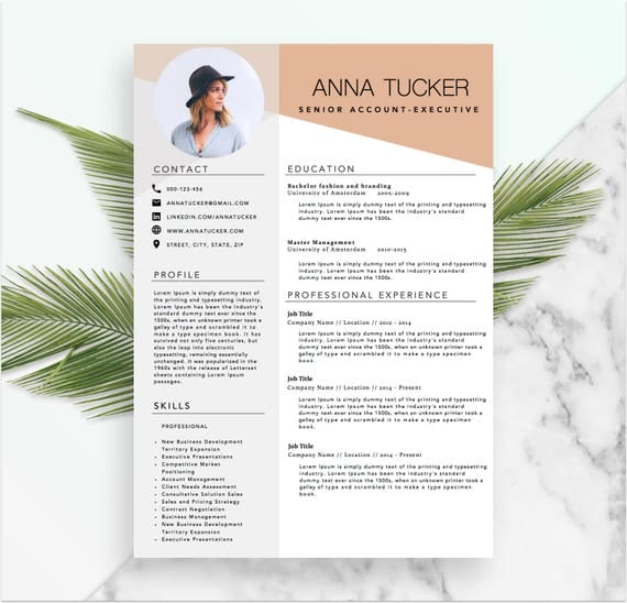 Modern Resume Template / CV Template | Professional And Creative Resume |  Word Resume | Instant Download | Docx  Resume Template Docx