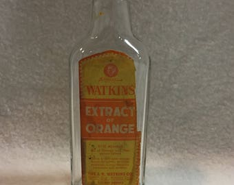J.R. Watkins 2 oz Extract of Orange Bottle (#065)