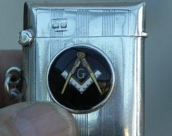Masonic Sterling Silver Vesta dated 1920