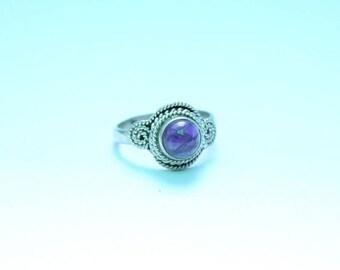 Amethyst ring, Amethyst Stone Ring, Amethyst Silver Ring, Silver Ring, Amethyst Jewellery, Handmade Ring, 92.5 Sterling Silver, Boho Ring