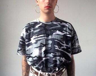 Grey CAMO Tee Shirt XL