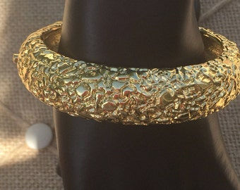 KJL Bracelet/Kenneth Jay Lane Bracelet/Kenneth J Lane Bracelet/Bombe Bangle Bracelet/Bangle Hinged Bracelet/Homecoming Accessories