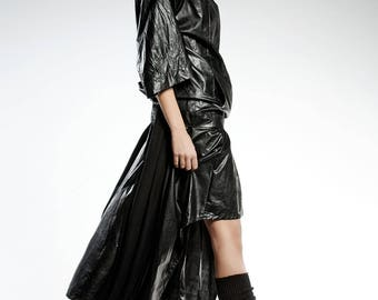 ASYMMETRICAL DIVA SKIRT, Black Modern skirt