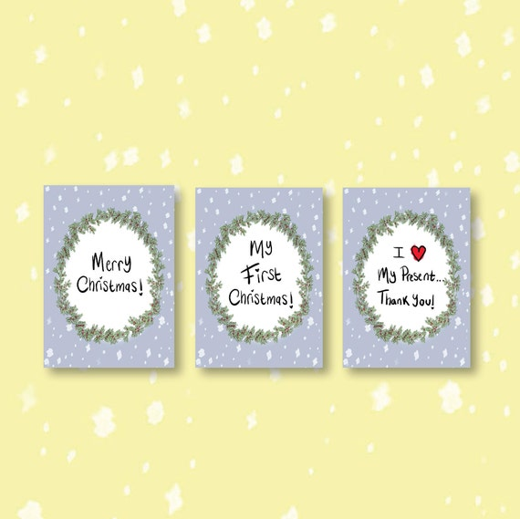 Baby Milestone Cards - My First Christmas - Thank you