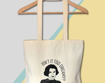 Twin Peaks Tote Screen Printed Canvas Bag  Audrey Isn't It too Dreamy