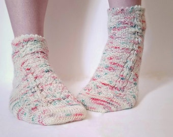 Knitting Pattern PDF Only - If The Crown Fits Sock Pattern, Knit Socks Pattern
