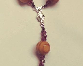 catholic rosaries,pocket rosary,hand rosaries,mens rosaries,wooded rosary,wooden pocket rosary