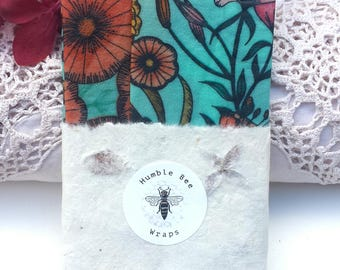 3 PACK Beeswax Food Wraps: Thelma's Garden