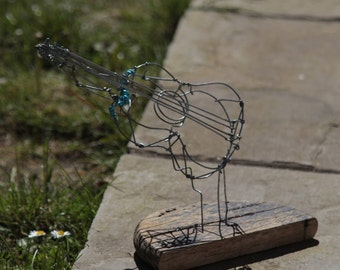 Retro Acoustic Guitar Wire Sculpture instrument /Birthday Gift/Male/Female/Husband/Boyfriend/Wife/Teen/Kid/eletric/bass