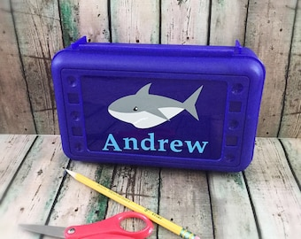 Personalized Pencil Box - Personalized School Box - School Supply Box - Pencil Box - Pencil Case - Plastic Pencil Box - Art Box - School