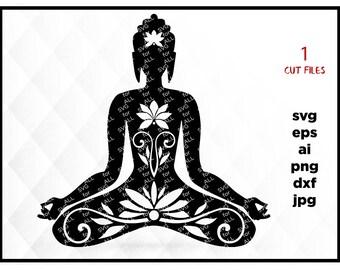 Buddha, Buddha svg, Buddha art, Buddha artwork, Buddha graphic, Buddha png, Buddha icon, meditation, yoga, svg for silhouette, cricut svg