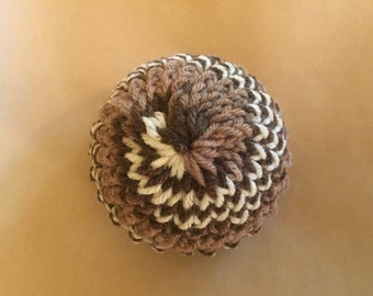 Chocolate Swirl Knitted Baby Hat