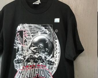 L * Deadstock vintage 90s Atlanta Falcons Super Bowl t shirt