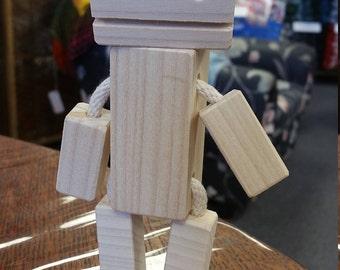 Poplar-Bot! A little wooden robot