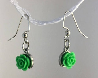 Homemade Flower Earrings