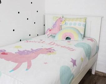Kids Unicorn Bedding Set
