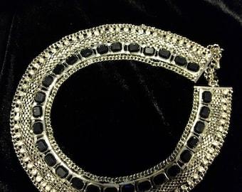 Rhinestone Vintage Choker Bib Style Statement Necklace