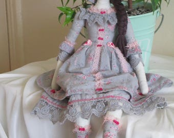 Art Rag Doll Shabby Chic Hand Made