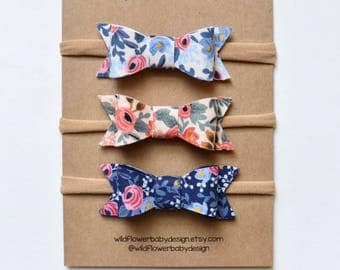 Rifle Paper Co Bows, Baby Bows, Baby Headband, Baby Clips