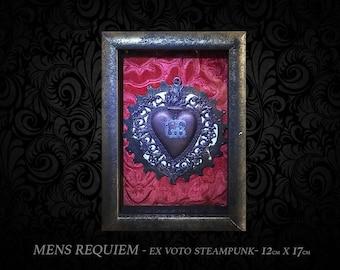 EX-VOTO Sacred Heart-religious relic Sacred Heart of Jesus Christ, vintage aesthetic, customizable high quality.