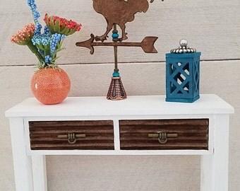 Miniature Console Table, Sofa Table, Dollhouse Miniatures, Dollhouse Furniture, Miniature Furniture, Entryway Table, Handmade