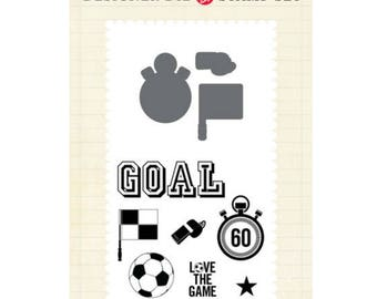 Echo Park Paper Soccer Stamp and Die Set