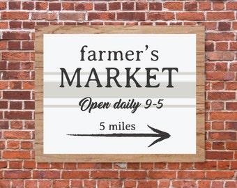 Farmers Market Sign, Magnolia Farms SVG, Fixer Upper Vector, Joanna Gaines, Cuttable, SVG, Digital File, Print, Cut File, Silhouette Cameo