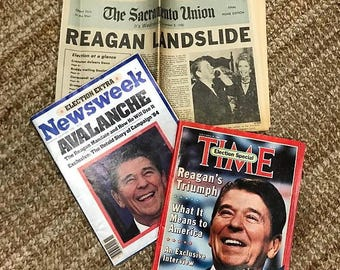 Reagan Elections Magazine/Newspaper Collection (APPLE MACINTOSH ADS)