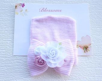 Baby cap, baby hat, infant cap, baby girl cap, newborn girl cap, newborn baby girl hat, newborn hospital hat, baby girl hat, pink baby hat