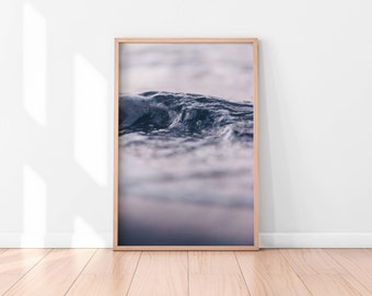 Ocean Water, Ocean Waves Print, Ocean Water Print, Coastal Wall Decor, Beach Art, Printable Poster, Digital Print, Digital Download, Water