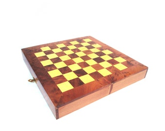 Wooden chess set |  24x24 cm chess board with wooden chess pieces | Thuya and Lemon wood chess board schachtisch ajedrez madera jeu d'échecs