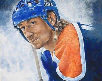Wayne Gretzky Original Painting by David Michael Kornik