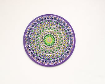 Cute Mandala Idea Boho Art Gift Yoga Art Gift Boho Wall Art Gift Unique Art for Wife Mandala painting, Mandala Yoga Art